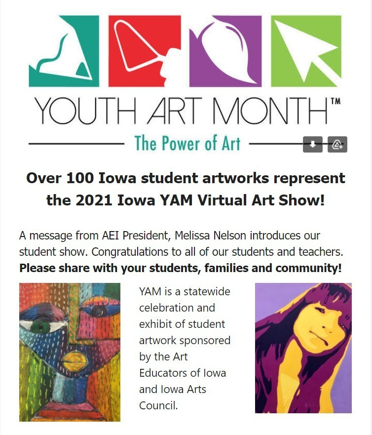 2021 YAM Winners and WVC Art Show Accolades for West Monona