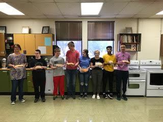 The West Monona HS foods class donates baked goods!