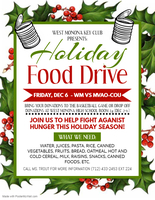Holiday FOOD DRIVE this week