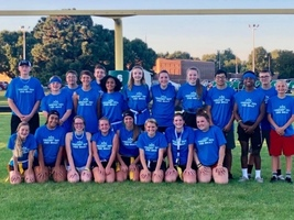HOCO Freshmen powder puff FB and power buff VB teams.