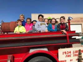 First Graders Visit Fire Station