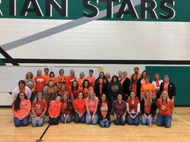 WM staff wears orange