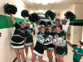 Some SECRET cheerleaders!