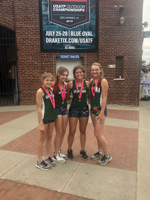 Girls 4x400 6th place at state